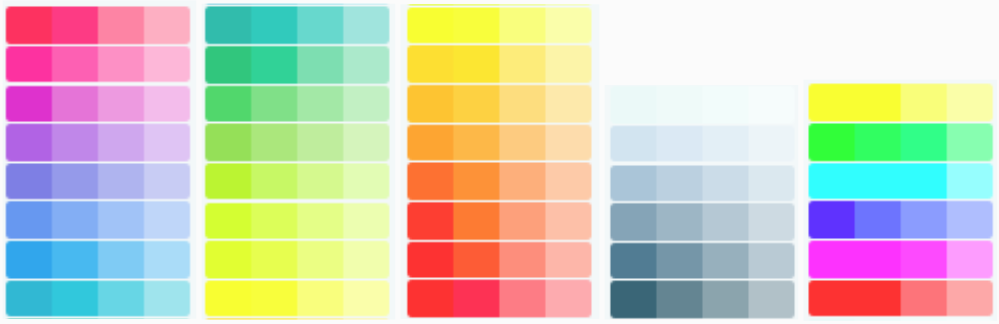 Versatile color palette