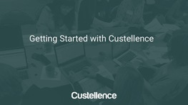 How to get started with Custellence