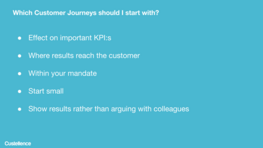 Which Customer Journeys Should I Start With?
