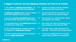 The 6 biggest Customer Journey Mapping mistakes and what to do instead