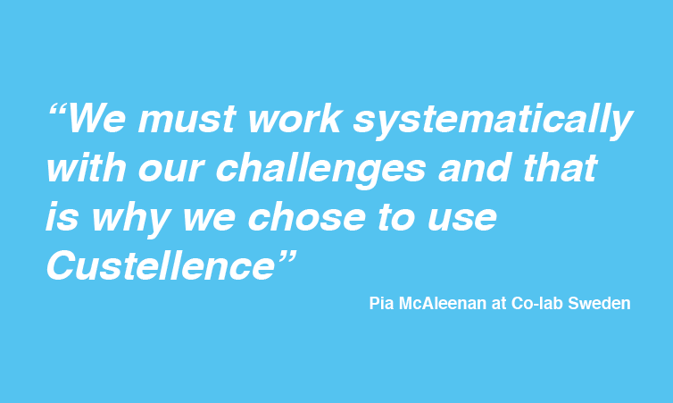 We must work systematically. That is why we choose Custellence