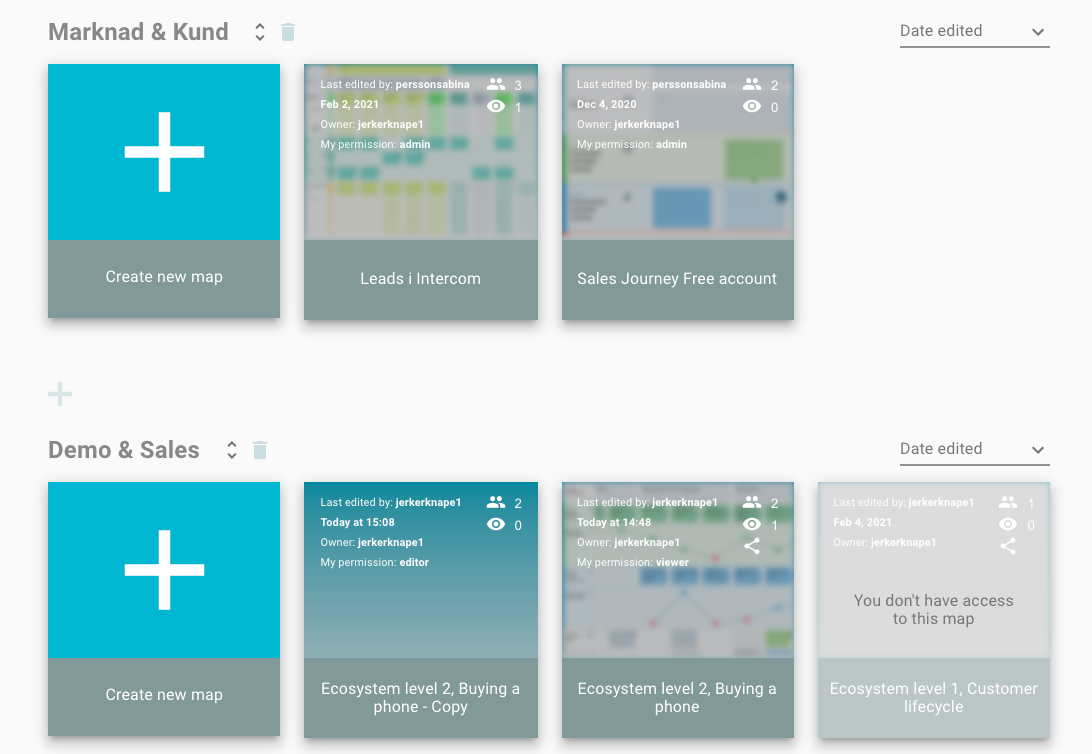 Categorize and find your journey maps easier